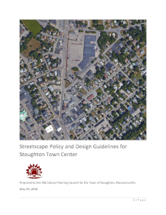 Stoughton Town Center Streetscape Policy and Design Guidelines