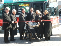 Ribbon Cutting Ceremony for BAT's New Hybrid Buses